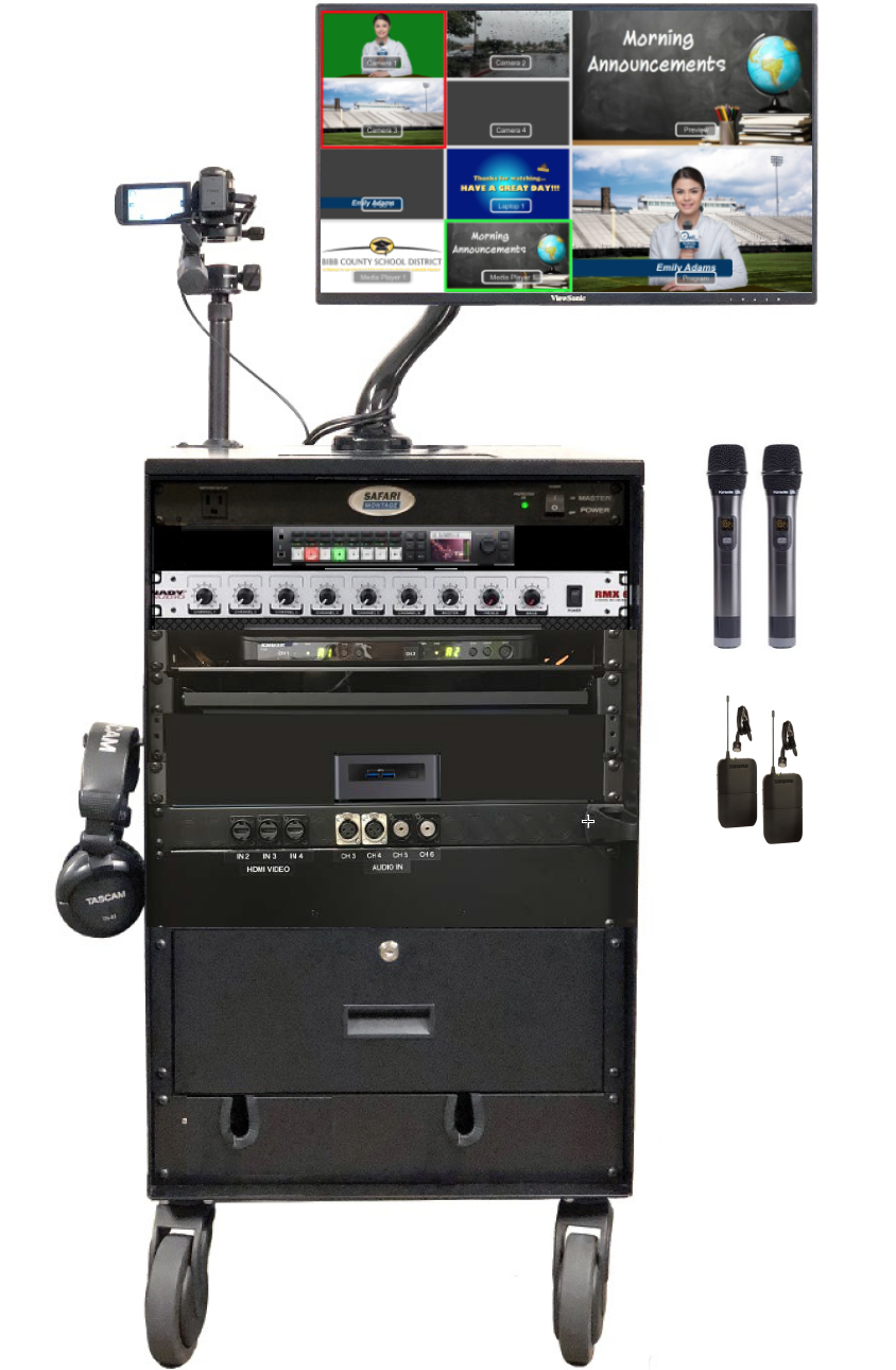 Mobile Broadcast Cart